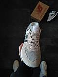 Кросівки жіночі New Balance 574 Сірі з синім, фото 6