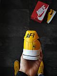 Кроссовки мужские Nike Air Force 1 Желтые, фото 4