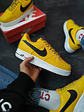 Кроссовки мужские Nike Air Force 1 Желтые, фото 8