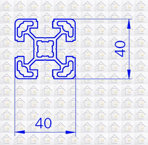 Алюминиевый конструкционный станочный 40х40 анодированный, фото 2