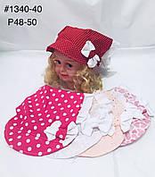 Стильная детская панамка на девочку р.48-50