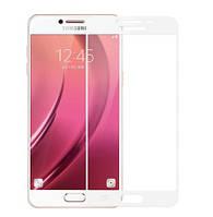 Защитное стекло Full Glue 3D White для Samsung Galaxy J7 (2017) J730 белое