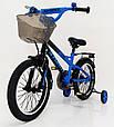 18-STORM  Детский велосипед c металлическим багажником и боковыми колесами синий от 6 лет Сборка 85%, фото 4
