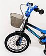 18-STORM  Детский велосипед c металлическим багажником и боковыми колесами синий от 6 лет Сборка 85%, фото 6