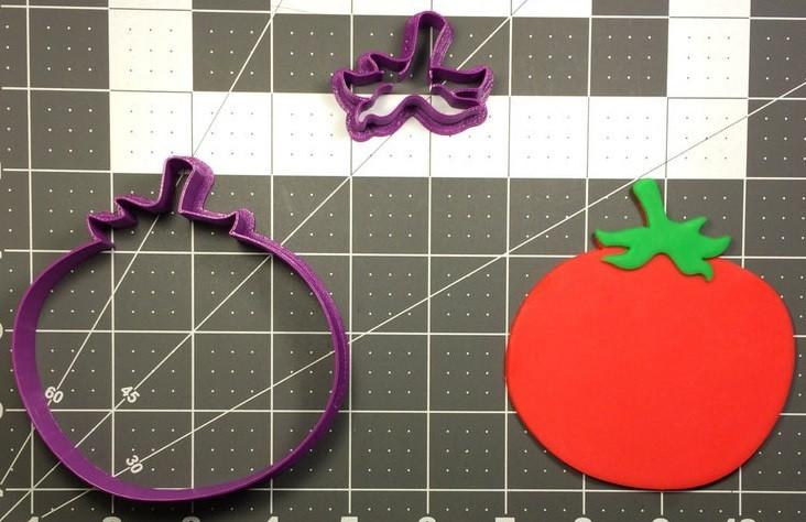 3D формочка для печенья - Баклажан | Вырубка для печенья на заказ