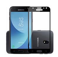 Защитное стекло Full Glue 3D Black для Samsung Galaxy J7 (2017) J730 черное