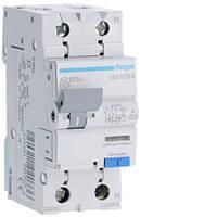 Дифференциальный автоматический выключатель 1P+N 6kA B-25A 30mA A
