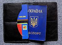 Кожаный чехол для паспорта, карточек и денег