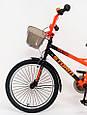 20-STORM Дитячий велосипед з ручкою і бічними колесами помаранчевий від 8 років Збірка 85%, фото 2
