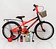 20-STORM  Детский велосипед с  боковыми колесами оранжевый от 8 лет Сборка 85% Насос в подарок!, фото 3