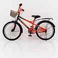 20-STORM Дитячий велосипед з ручкою і бічними колесами помаранчевий від 8 років Збірка 85%, фото 4