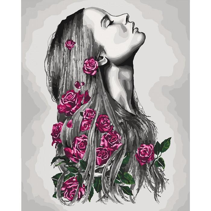 "Картина по номерам.  ""Расцветаю"" с красками металлик 40х50см арт. КНО4576"