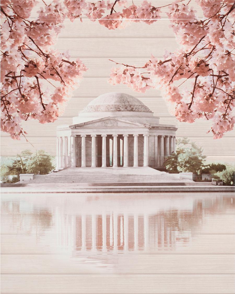 Декор Cersanit  Sakura Panno Palace  45x60