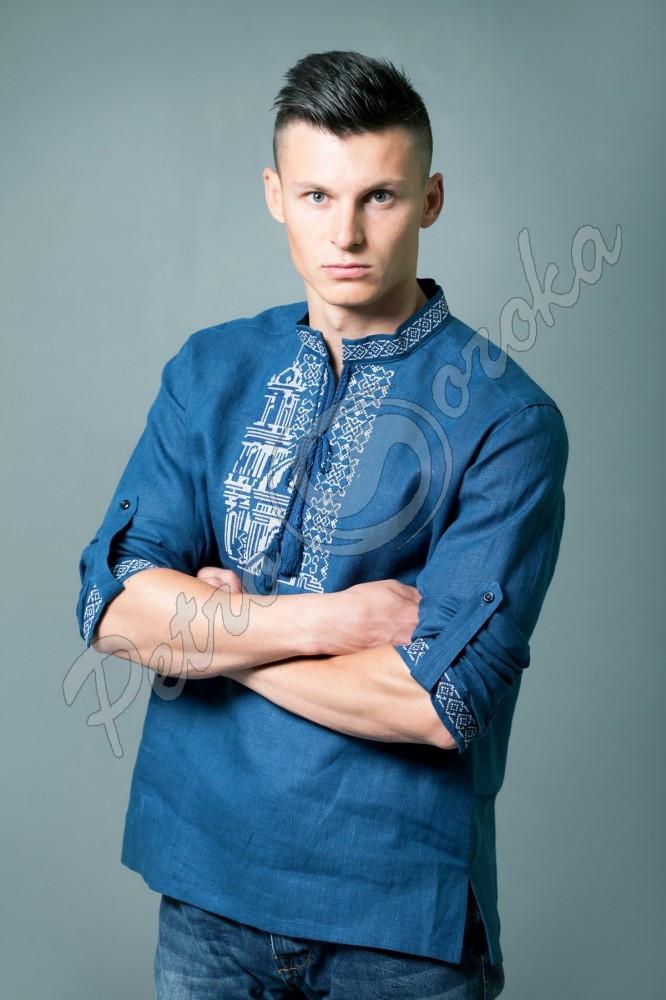 Рубашка-вышиванка мужская Petro Soroka  МТ-2091-05 синяя