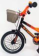 14-STORM  Детский велосипед с ручкой и боковыми колесами оранжевый от 3 лет Сборка 85% Насос в Подарок, фото 3