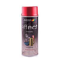 Краска насыщенных металлик-оттенков Motip Deco Effect аэрозоль 400мл. Красный