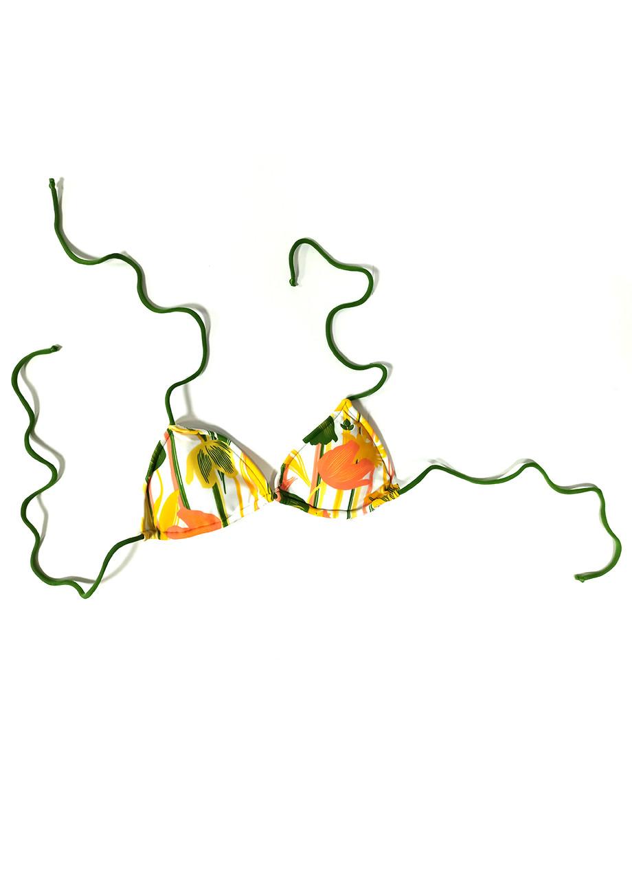 Купальний ліф Reef M Зелений, Білий
