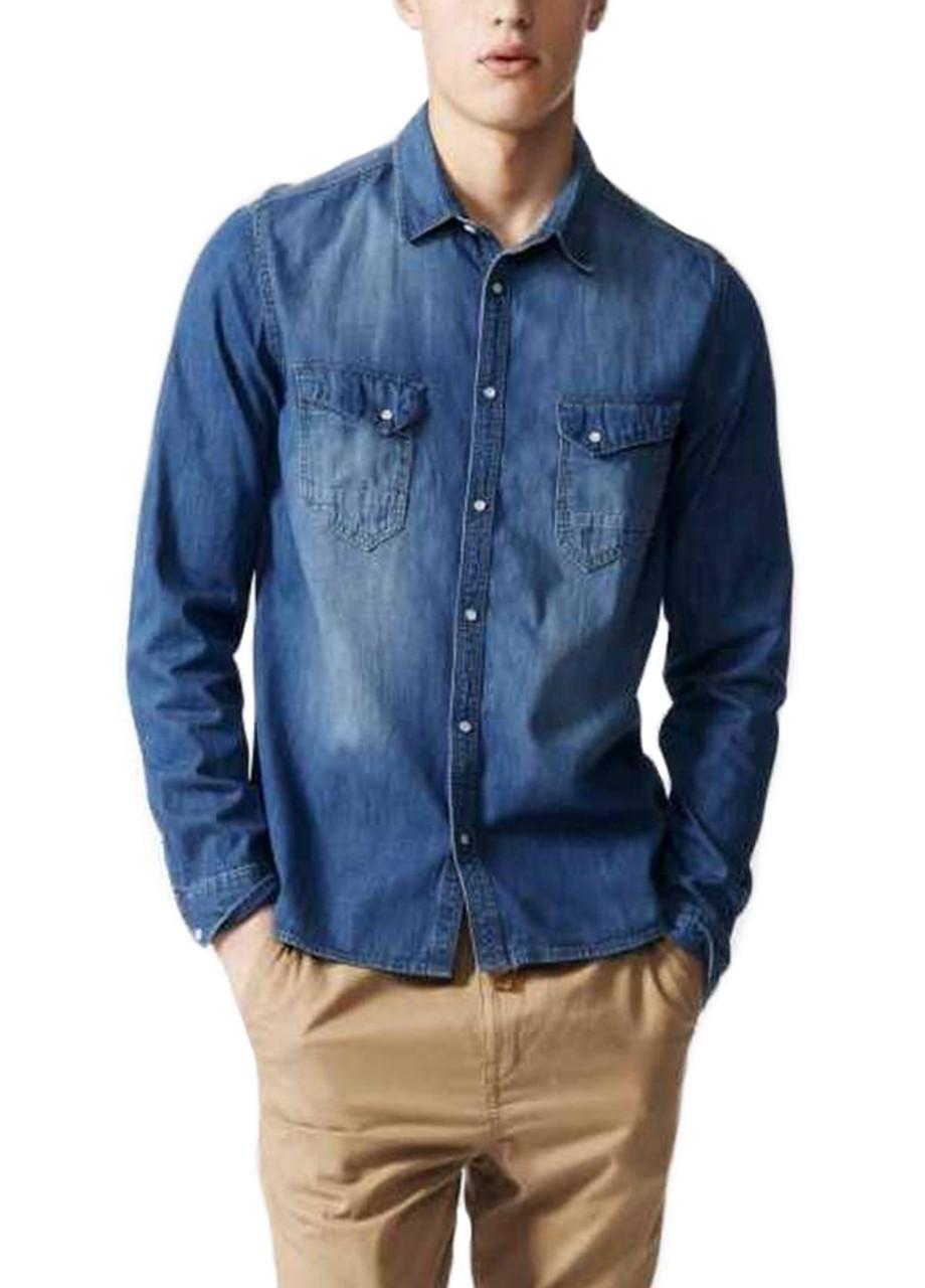 Джинсовая рубашка NEO S Синий