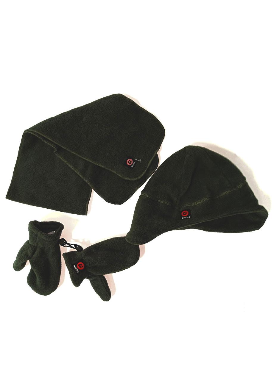 Комплект (шапка + варижки + шарф) Killtec 2роки Зелений