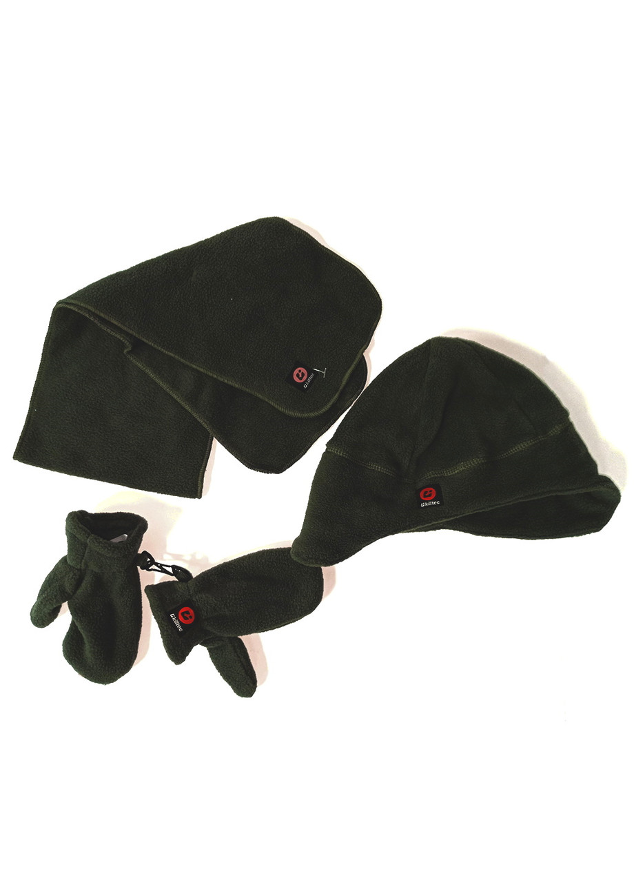 Комплект (шапка + варижки + шарф) Killtec 4года Зеленый