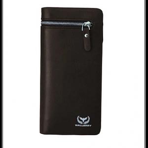 Мужской кошелек клатч портмоне барсетка Wallerry 618 business Коричневый