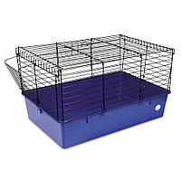 Клетка Природа Кролик 70 черная/синяя  70*45*40 см