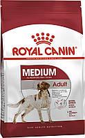 Корм Royal Canin Medium Adult, для собак середніх порід з 12 місяців до 7 років, 15 кг