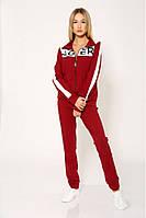 Женский спортивный костюм бордового цвета. Жіночий спортивний одяг. Спотривные штаны + кофта.