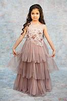 Нарядное платье с вышитыми цветами для девочки (134 см.) Miss Lucia 2125000651736