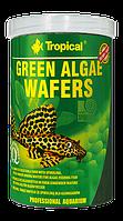 Сухий корм Tropical Green algae wafers для донної риби 66426, 1L/450g