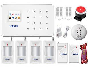 Комплект беспроводной GSM сигнализации для дома, дачи, гаража Kerui alarm G18 prof (TDGBVCYD543DJCK)