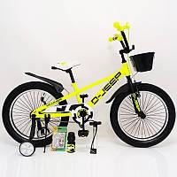 D-JEEP 20 дюймов Детский велосипед на широких колесах ( полу фэт-байк)  от 8 лет салатовый Сборка 85%