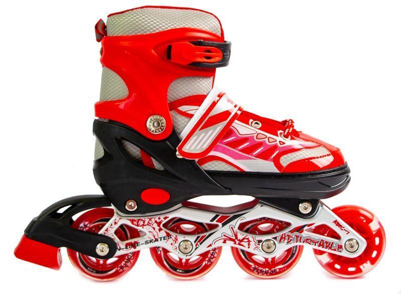 Роликовые коньки детские Happy 2 Skate Inline Красные р.38-42 (SD)