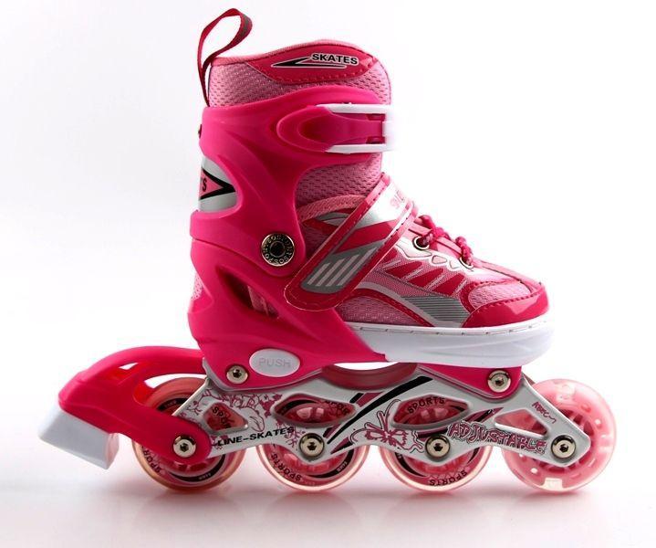 Роликовые коньки детские Happy 2 Skate Inline Розовые р.29-33 (SD)