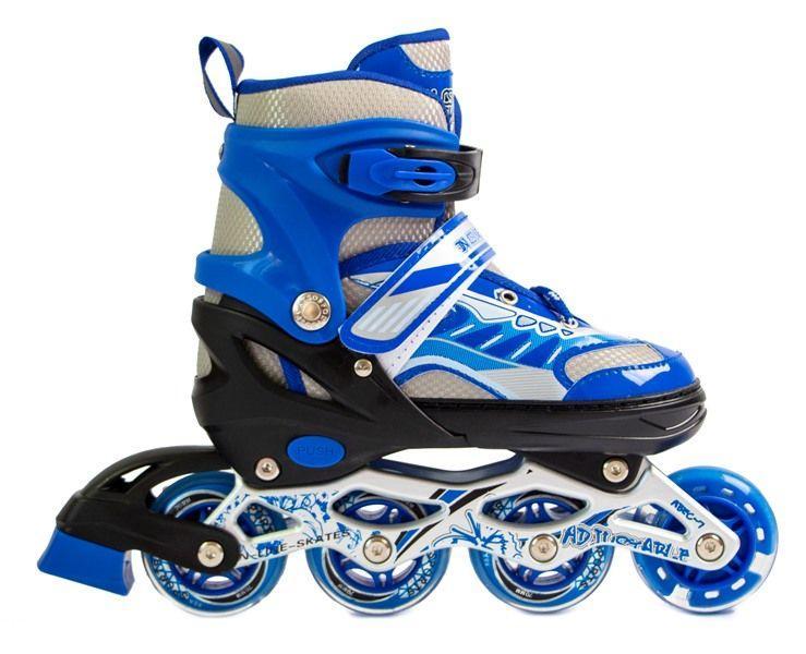 Роликовые коньки детские Happy 2 Skate Inline Синие р.38-42 (SD)