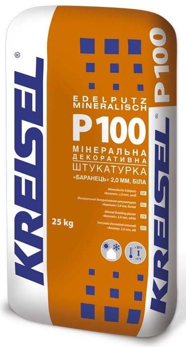 Декоративная штукатурка (барашек 2мм) белая KREISEL P-100, 25кг