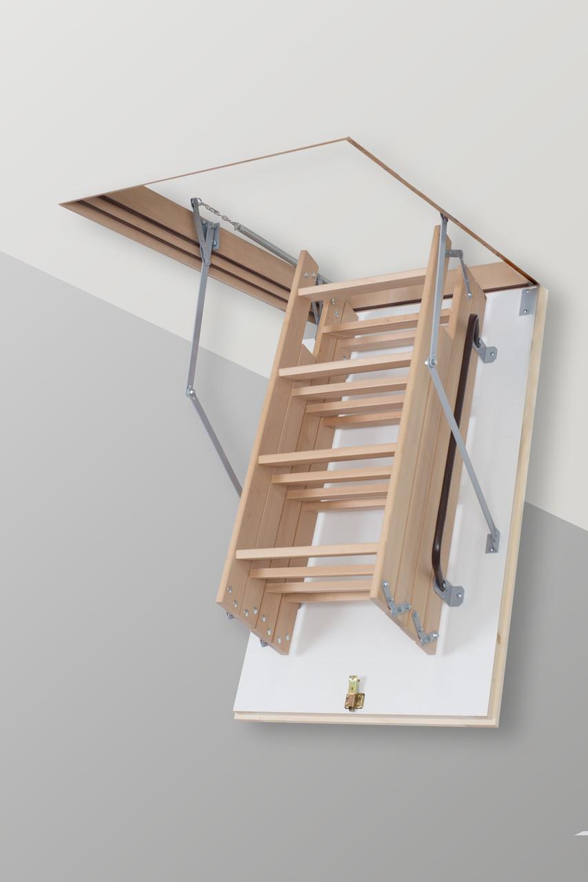 Сходи на горище Altavilla Long Чердачные лестницы 120х80, TermoPlus 46 mm., Faggio (Бук)