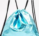 Голубой  Металлик   рюкзак  мешок   на подкладке  Reserved, фото 3