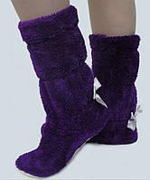 Комнатные махровые сапожки.Фиолет.