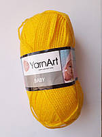 Пряжа детская акриловая Baby YarnArt, 100% акрил 50 гр., 200 м, Колір 315, жовтий 032