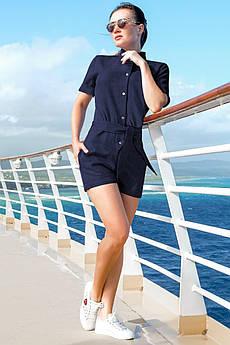 Модный комбинезон Флорида темно-синего цвета