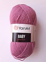 Нитки для в'язання пряжа акрилова дитяча  Baby YarnArt 100% акрил, 50 гр., 150 м, 560 , фрез