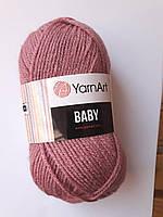 Пряжа для вязания  акриловая детская Baby YarnArt, 100% акрил   50 гр., 150 м,  Колір 3017 , фрез