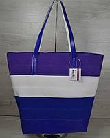 Женская сумка Welassie Комбинированная Сине-белая (65-55204)