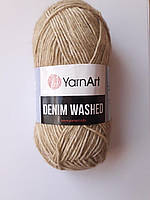Пряжа нитки для вязанияYarnArt Denim Washed 80% бавовна 20 % акрил, 50 гр., 130 м,  Колір 914, пісочний
