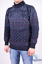 Кофта мужская (цв.синий) из натуральной шерсти BELLA WELL 137 Размер:50