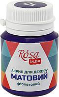 """Акрил для декору """"Rosa Start"""" 20мл №20010/9122 матовий фіолетовий"""
