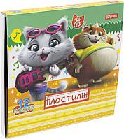 """Пластилін  12 кольор. """"1В"""" №540521 44 Cats(32), фото 1"""