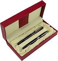 "Набір ручок кап.+чорн. ""Picasso"" №966 DUO в подар. упаковці,зол./чорн. корпус, фото 1"