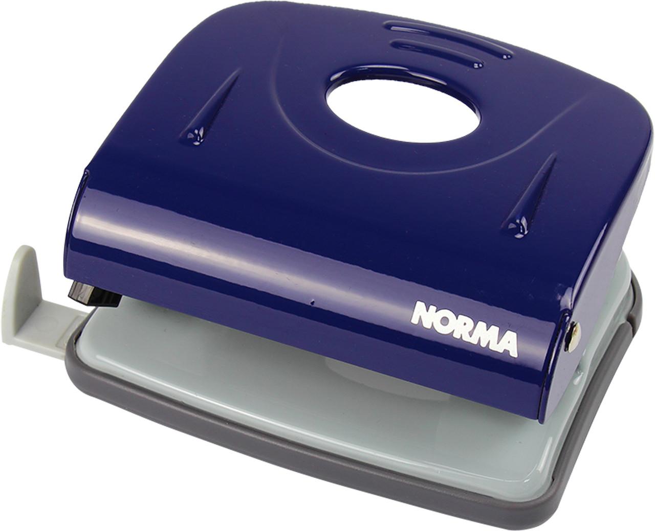 """Дирокол """"Norma"""" 30арк. метал. з лін.,синій №4346/4668(6)"""